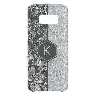 Silver Glitter & Damasks Monogram Uncommon Samsung Galaxy S8 Case