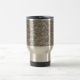 Silver Glitter Hanukkah Travel Mug
