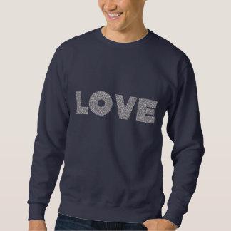 Silver Glitter Love Sweatshirt