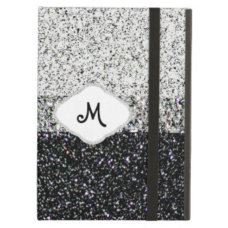 Silver Glitter Monogram iPad Air Case