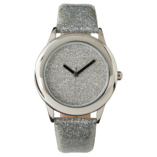 Silver Glitter-on-Glitter Men's Watch