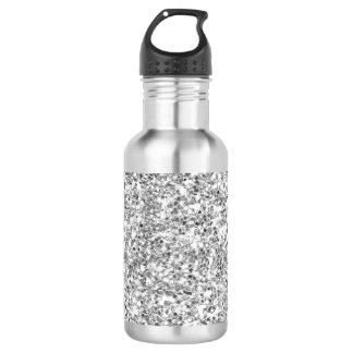 Silver Glitter Printed