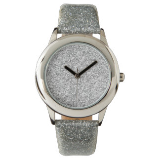 Silver Glitter Printed Wrist Watch
