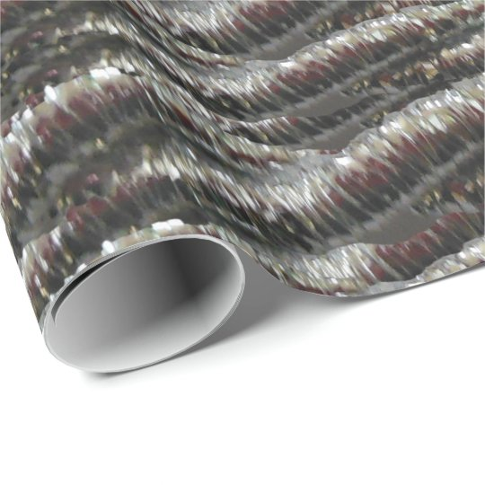 Silver Glitter Ropes Wrapping Paper