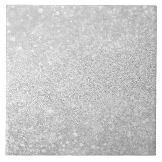 Silver Glitter Shiny Sparkley Ceramic Tiles