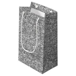 Silver Glitter Small Gift Bag
