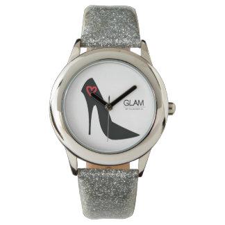 Silver Glitter Stiletto Watch