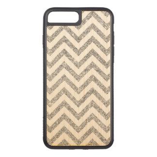 Silver Glitter Zigzag Stripes Chevron Pattern Carved iPhone 8 Plus/7 Plus Case