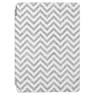 Silver Glitter Zigzag Stripes Chevron Pattern iPad Air Cover