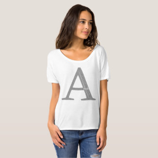 Silver Glittery Monogram T-Shirt