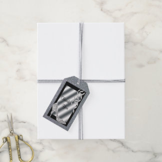 Silver Glittery Stiletto & Streamers 50th Birthday Pack Of Gift Tags