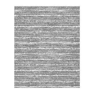 Silver Glittery Stripes Canvas Print