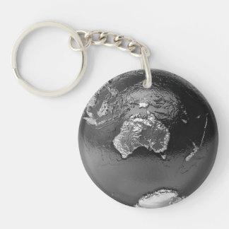 Silver Globe - Australia, 3d Render Double-Sided Round Acrylic Keychain