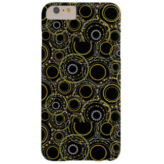 silver & gold circle pattern for cell case/cover barely there iPhone 6 plus case
