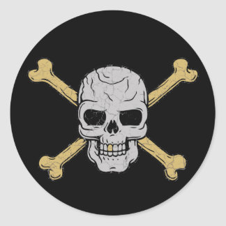 Silver & Gold Classic Round Sticker