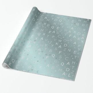 silver Gold colored letters from a to z Wrapping Paper