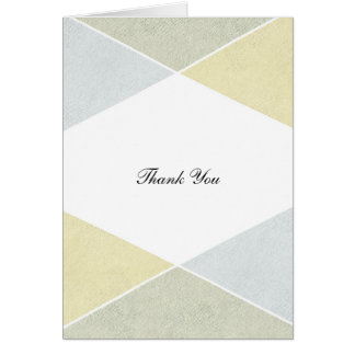 Silver Gold Metal Look Industrial Chic Thank You Card