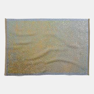 Silver Gold Metal Texture Pattern Look | Elegant Kitchen Towel