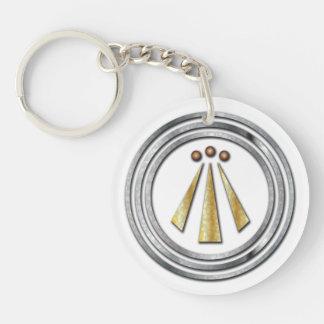 Silver & Gold Neo-Druid-Awen Doublesidd Key Chain