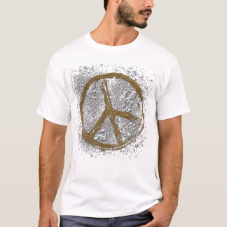 SILVER & GOLD PEACE SIGN T-Shirt
