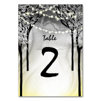Silver & Gold Wedding Table Number Card Templates Table Cards