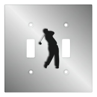 Silver Golf Design Light Switch Cover