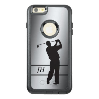 Silver Golfer Monogram OtterBox iPhone 6/6s Plus Case