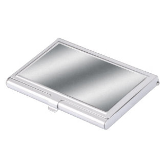 Silver Gradient Case For Business Cards