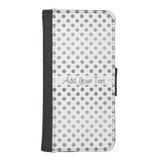 Silver Gradient Polka Dots by Shirley Taylor iPhone SE/5/5s Wallet Case