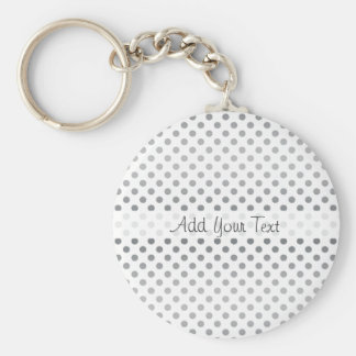 Silver Gradient Polka Dots by Shirley Taylor Keychain