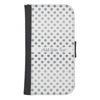 Silver Gradient Polka Dots by Shirley Taylor Samsung S4 Wallet Case