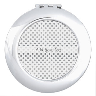 Silver Gradient Polka Dots by Shirley Taylor Travel Mirrors