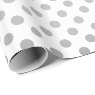 Silver Gradient Polka Dots by Shirley Taylor Wrapping Paper