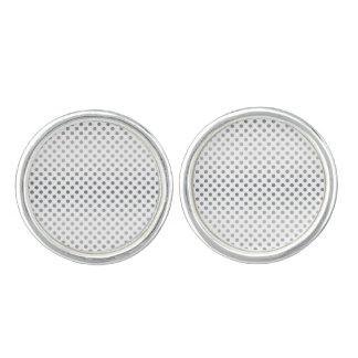 Silver Gradient Polka Dots Cuff Links