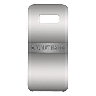Silver Gradient Silver Nameplate Monogram Case-Mate Samsung Galaxy S8 Case