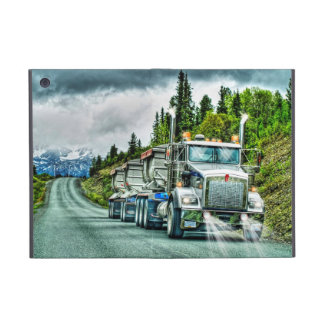 Silver Gravel Truckers Lorry & Highway iPad Mini Cover