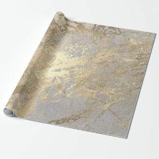 Silver Gray Abstract Golden  Metallic Glass Stroke