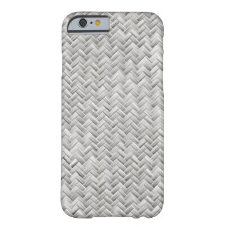 Silver Gray Basket Weave Geometric Pattern Barely There iPhone 6 Case