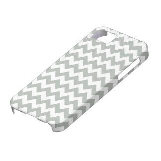 Silver Gray Chevron iPhone 5/5S Case