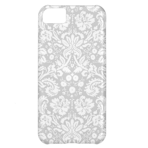 Silver gray damask pattern iPhone 5C cover