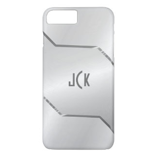 Silver Gray  Design-Stainless Steel Look iPhone 7 Plus Case