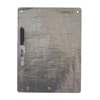 Silver Gray Foiled Fabric Look Dry Erase Board