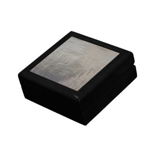 Silver Gray Foiled Fabric Look Gift Box