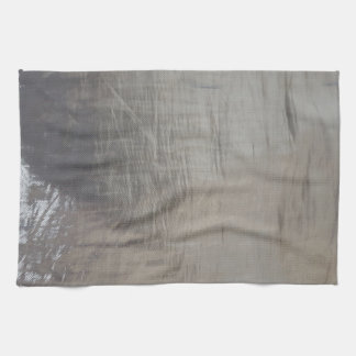 Silver Gray Foiled Fabric Look Kitchen Towel