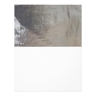 Silver Gray Foiled Fabric Look Letterhead