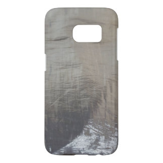 Silver Gray Foiled Fabric Look Samsung Galaxy S7 Case