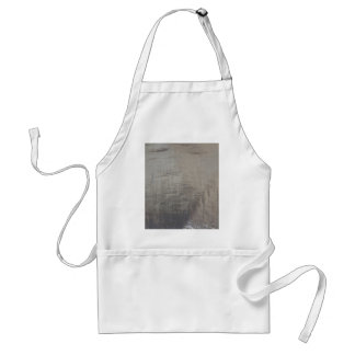 Silver Gray Foiled Fabric Look Standard Apron