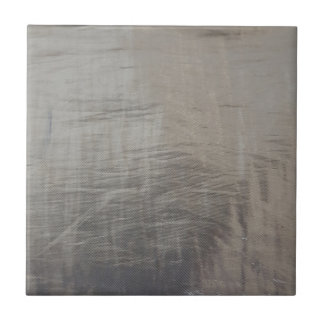 Silver Gray Foiled Fabric Look Tile