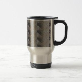 Silver Gray Foiled Fabric Look Travel Mug