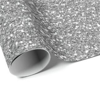 Silver Gray Glam Glitter Sparkly Minimal Delicate